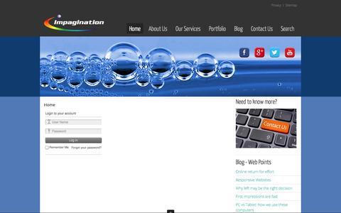 Screenshot of Login Page impagination.com.au - Impagination - Impagination - captured Sept. 30, 2014