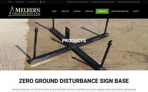 Screenshot of Products Page melbern.ca - Products - Sign Base | Melbern Vegetation Ltd. - captured Feb. 12, 2016