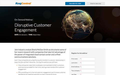 Screenshot of Landing Page ringcentral.com - RingCentral - captured April 13, 2018