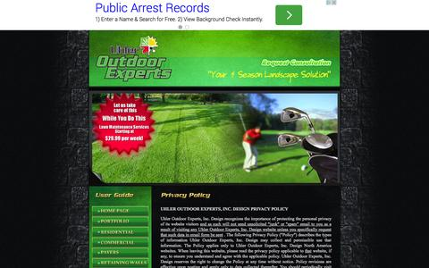 Screenshot of Privacy Page odexperts.com - Privacy Policy, Uhler Outdoor Experts, Clarks Summit, Pennsylvania, PA - captured Oct. 7, 2014