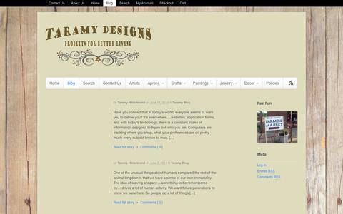 Screenshot of Blog taramydesigns.com - Taramy Designs     Blog - captured Oct. 7, 2014