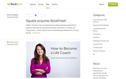 Screenshot of Blog bookfresh.com - BookFresh - Blog - captured Sept. 13, 2014