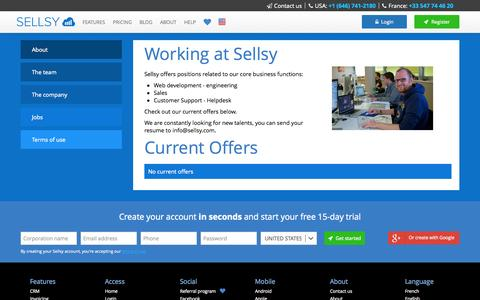 Screenshot of Jobs Page sellsy.com - Jobs - SELLSY - Online CRM / Invoicing software - captured Nov. 4, 2014