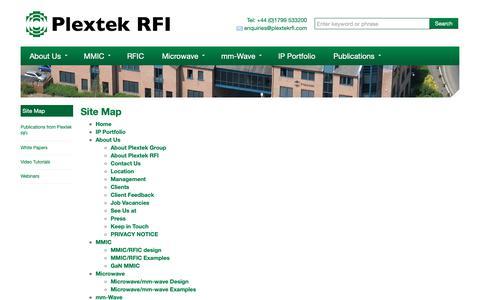 Screenshot of Site Map Page plextekrfi.com - Site Map | - captured Sept. 28, 2018
