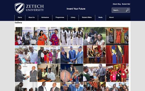 Screenshot of Press Page zetech.ac.ke - Media - Zetech University - captured Oct. 27, 2014