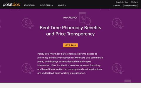 Real-Time Pharmacy Benefits and Price Transparency | PokitDok