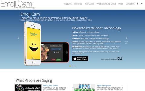 Screenshot of Home Page reshoot.com - Emoji Cam - captured Sept. 12, 2014