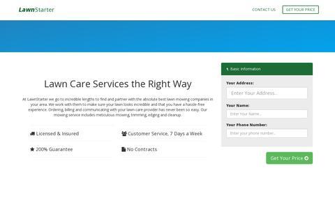 Screenshot of Signup Page lawnstarter.com - Sign Up | LawnStarter.com - captured July 19, 2014