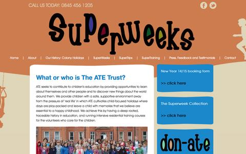 Screenshot of About Page superweeks.co.uk - About « SuperweeeksSuperweeeks - captured Oct. 4, 2014