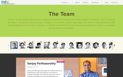 Screenshot of Team Page indix.com - Meet people at Indix, the product intelligence company - captured July 20, 2014