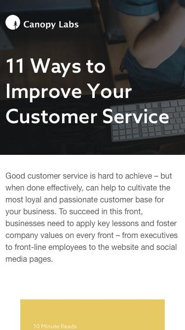 11 Ways to Improve Your Customer Service - Canopy Labs