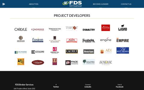 Screenshot of Developers Page fdsbroker.com - Project Developers | Invest in Canadian Real Estate - captured Oct. 13, 2017