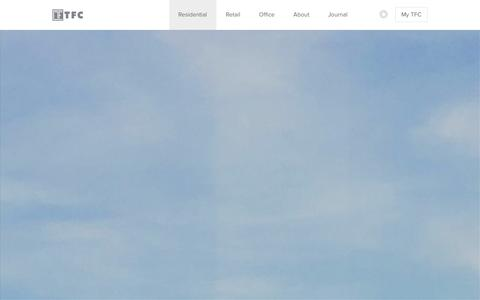 Screenshot of Home Page tfc.com - TF Cornerstone - captured Jan. 14, 2016