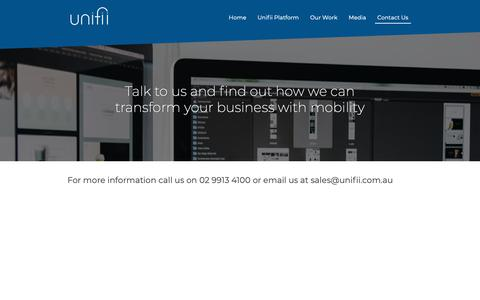 Screenshot of Contact Page unifii.com.au - Contact Us - Unifii - captured Oct. 18, 2018