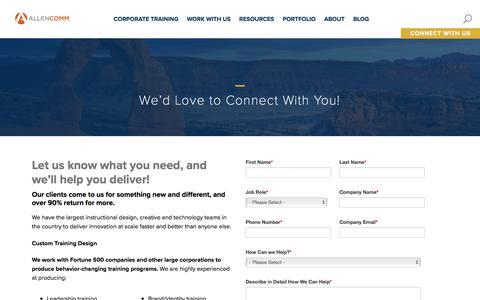 Screenshot of Contact Page allencomm.com - Contact Allen Communication -- AllenComm - captured July 6, 2017