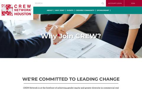 Screenshot of Signup Page crewhouston.org - CREW Houston - Why Join? - captured June 29, 2018