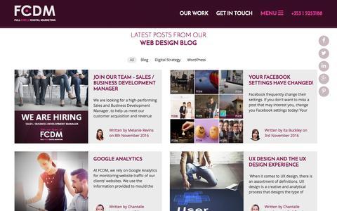 Screenshot of Blog fcdm.ie - Web Design Dublin | WordPress Website Design Dublin | Digital Marketing - captured Nov. 24, 2016