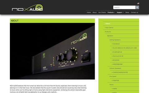 Screenshot of About Page noxaudio.com - NoxAudio - captured Oct. 20, 2018