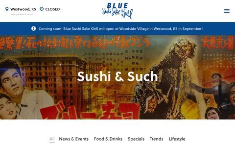 Screenshot of Press Page bluesushisakegrill.com - Sushi & Such - Blue Sushi Sake Grill - captured July 29, 2016