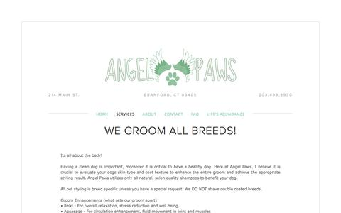 Screenshot of Pricing Page angelpawsdogspa.com - Pricing — Angel Paws - captured Oct. 8, 2017