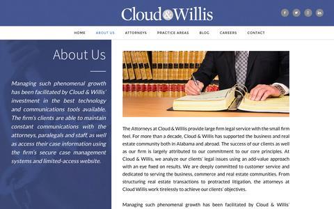 Screenshot of About Page cloudwillis.com - About Us | Cloud & Willis, LLC - captured Nov. 7, 2016