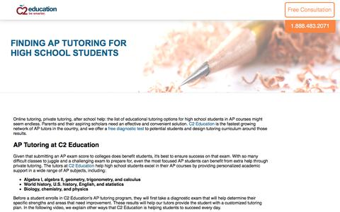 Screenshot of c2educate.com - Finding AP Tutoring for High School Students - captured June 6, 2017