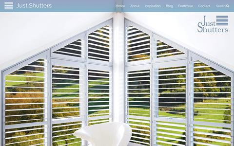 Screenshot of Home Page justshutters.co.uk - Just Shutters The Very Best Interior Plantation Shutters | Just Shutters - captured Oct. 16, 2017