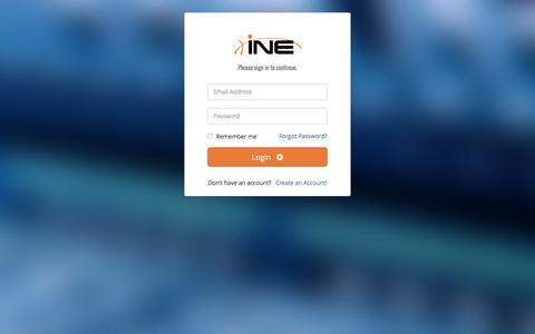 Screenshot of Login Page ine.com - INE Members - Registration - captured Oct. 5, 2016
