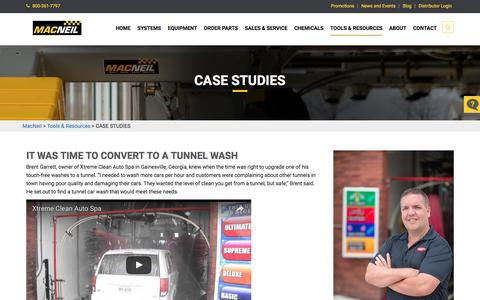 Screenshot of Case Studies Page macneilwash.com - Case Studies | MacNeil - captured Nov. 17, 2016