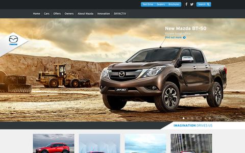Screenshot of Home Page mazda.com.au - Mazda Australia – Reviews, Offers, Dealerships – ZoomZoom - captured Oct. 6, 2015