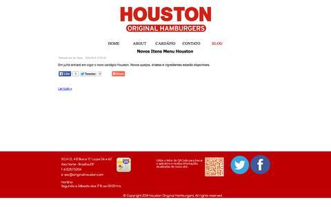 Screenshot of Blog originalhouston.com - - Houston Original Hamburgers - captured Oct. 3, 2014