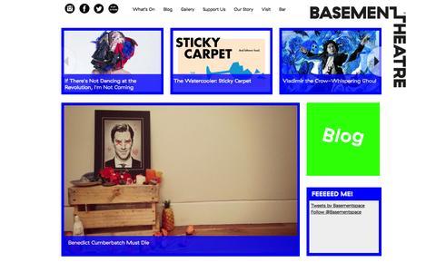 Screenshot of Home Page basementtheatre.co.nz - Basement Theatre | A Bar. A Theatre. A Community. - captured Feb. 25, 2016