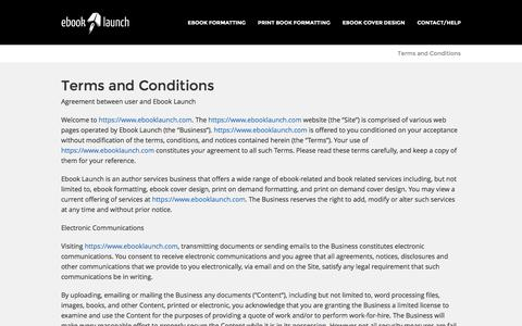 Terms and Conditions | Ebook Launch – Ebook Formatting and Cover Design