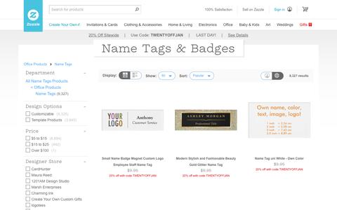Name Tags & Badges | Zazzle