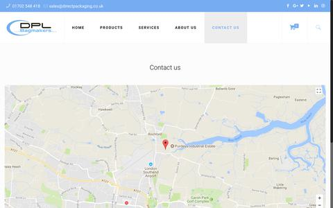 Screenshot of Contact Page directpackaging.co.uk - Contact us - Direct Packaging Ltd - captured Oct. 12, 2017