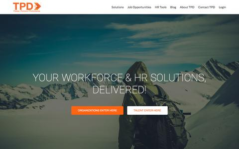 Screenshot of Home Page tpd.com - HR Solutions | Staffing | Recruiting - captured July 16, 2017