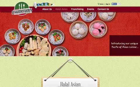Screenshot of Menu Page dsumptuous.com.my - Menu | D`sumptuous - captured Nov. 4, 2014