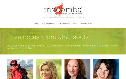 Screenshot of Testimonials Page maoomba.com - Testimonials |         Maoomba - captured Oct. 2, 2015