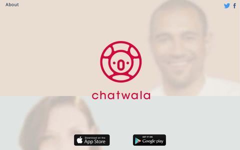 Screenshot of Home Page chatwala.com - Chatwala Video Messenger - captured July 11, 2014