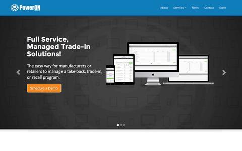Screenshot of Home Page poweron.com - PowerON Services, Inc. - captured Jan. 21, 2016