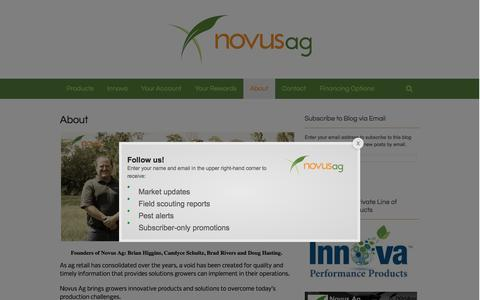 Screenshot of About Page novusag.com - About | Novus Ag - captured Feb. 24, 2016