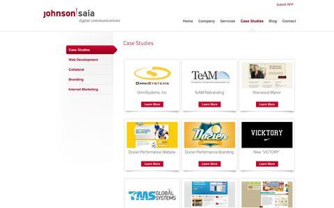 Screenshot of Case Studies Page johnsonsaia.com - Case Studies   Johnson Saia Digital Communications - captured Oct. 6, 2014