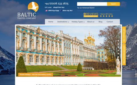 Screenshot of Home Page baltictravelcompany.com - Baltic tours & cruises | Scandinavia & Eastern European holidays | Baltic Travel Company - captured Nov. 6, 2018