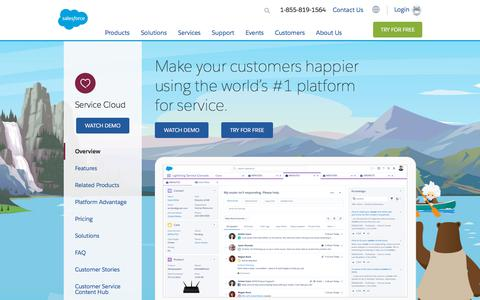 Screenshot of Support Page salesforce.com - Service Cloud: Customer Service Software & Support Software - Salesforce.com - captured March 5, 2018