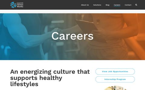 Corporate Fitness and Wellness Jobs   Corporate Fitness Works
