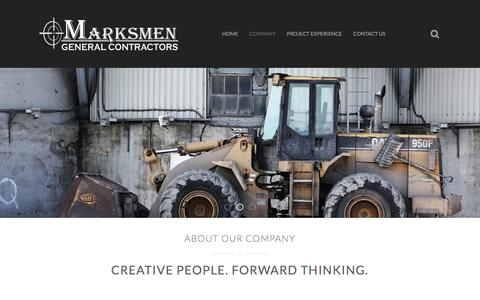 Screenshot of About Page marksmengc.com - About Marksmen General Contractors - captured Feb. 12, 2016