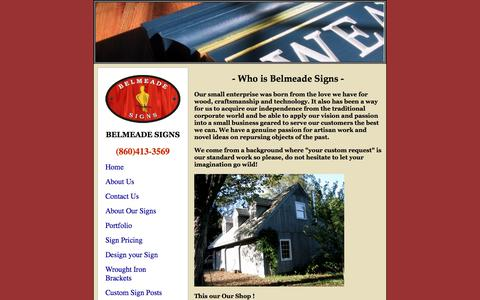 Screenshot of About Page belmeadesigns.com - Belmeade Signs - About our custom sign company and philosophy - captured Aug. 1, 2018