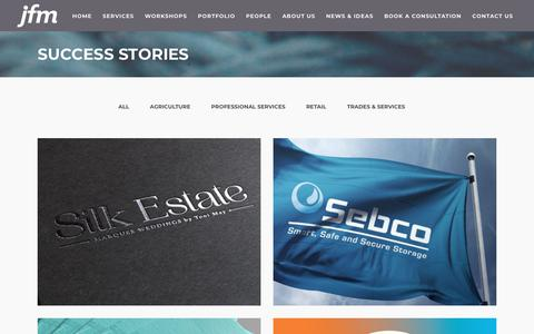 Screenshot of Case Studies Page jfm.co.nz - Read our case studies and success stories - captured Oct. 1, 2018