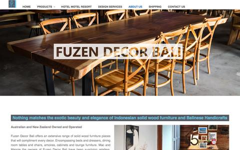 Screenshot of About Page fuzendecorbali.com - About Us   Furniture Manufacturers and Handicrafts Suppliers   FUZEN DECOR BALI - captured Aug. 21, 2019