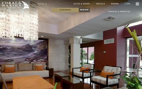 Screenshot of Home Page hotelcoral.com - Hotel Coral Y Marina - Hotels in Ensenada - captured April 20, 2018